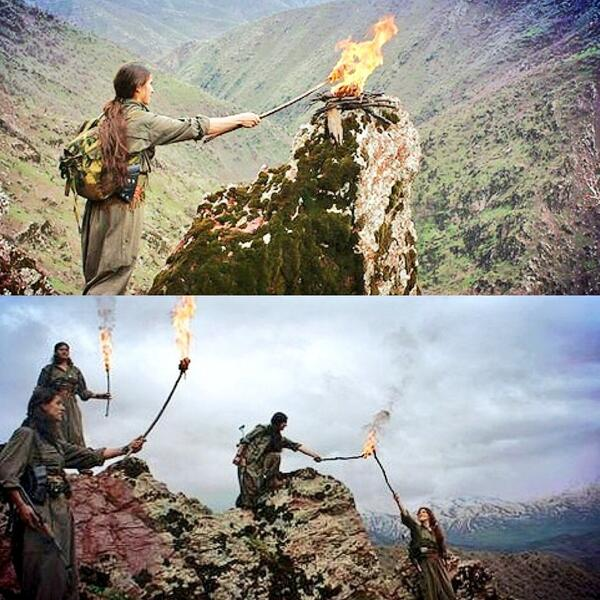 The torches are kindled & the Newroz fire will soon burn high up in the Zagros mountains in #Kurdistan. #TwitterKurds http://t.co/DCOTq7avOp