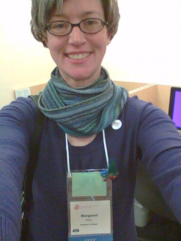 @krgpryal Did it! Me, glasses, #interactionbadge, #sparklepony, purple dress, queer pin, smile. #4cselfie #4c14 #dis http://t.co/g5FYRBANAo