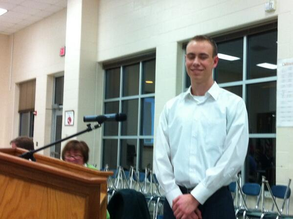 Ben Habekost is one of the new student alternate representatives to the school board. @MercuryX http://t.co/eppqqLWx1r