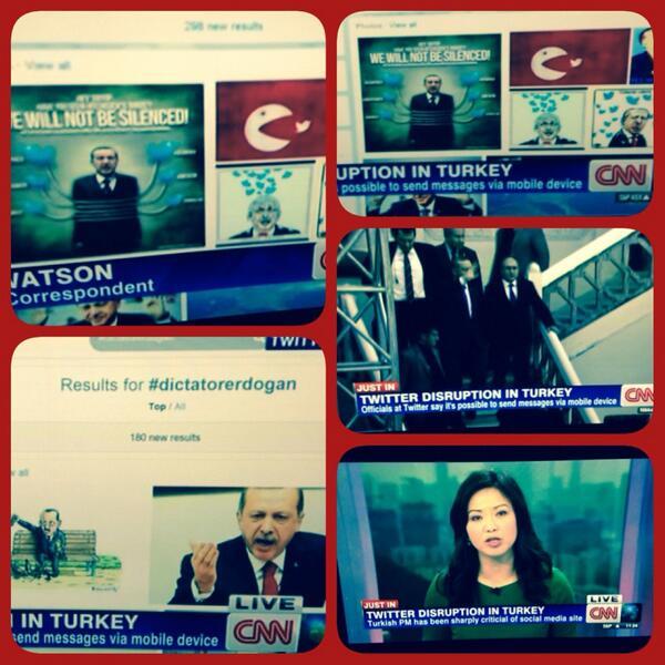 CNN İnternational biraz önce twitter'ın Türkiye'de erişimimin engellendiğini ilk haber olarak bu görüntülerle duyurdu http://t.co/rDxuJQtUkX