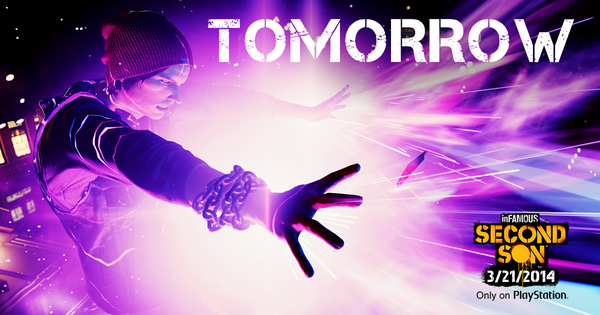 One. More. Day. HA! Who are we kidding? #SecondSon comes out at midnight! RT if you'll be staying up to play! http://t.co/032kh58UFz