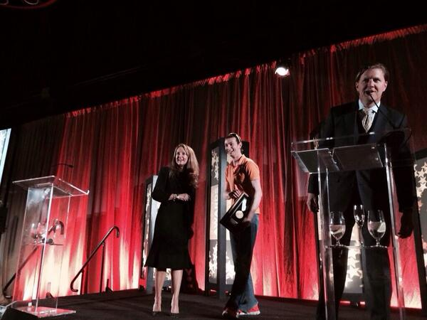 "Honored to have accepted the ""Most Innovative Company"" award on behalf of @TheLevelUp at #IP2014! Go team  go! http://t.co/JlrLjfAorh"