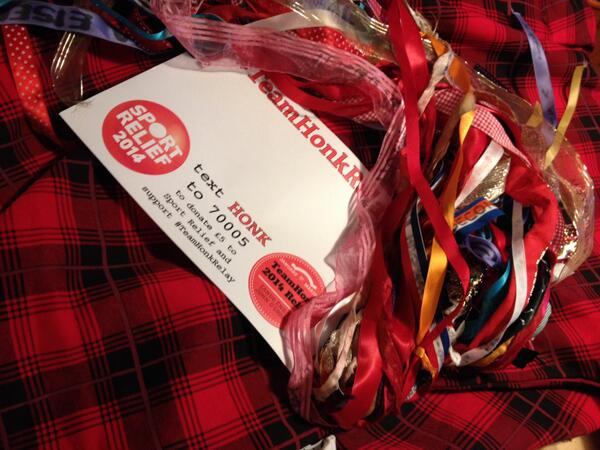 How does the #teamhonkrelay baton look in tartan? It's ready to cross the Forth Road Bridge http://t.co/TpWHohlNpE http://t.co/4Y8fmJLQYa