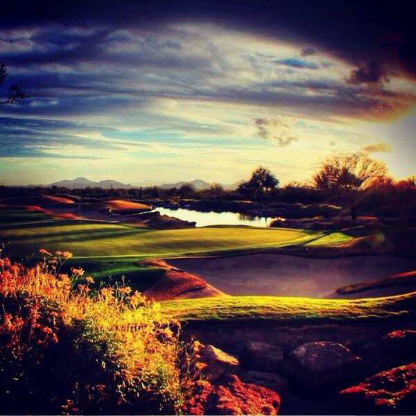 A nice end to a nice day at Grayhawk... http://t.co/OHcG6LXZc9