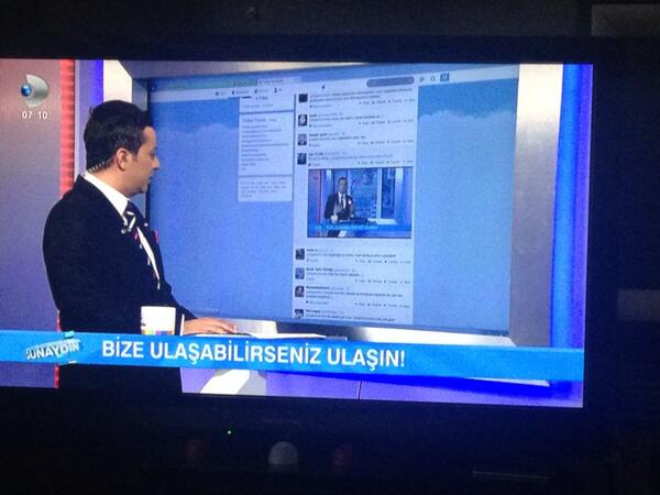 Turkish anchorman tweeting live on tv. bravo @degirmencirfan http://t.co/nLO9LEFG4y