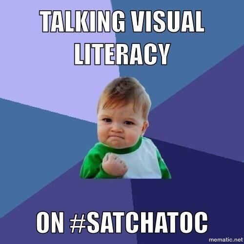 Pls join us Sat 10.30 AEST #satchatoc topic-Visual Literacy with guest moderator @art_cathyhunt http://t.co/hvG3TMKx6T