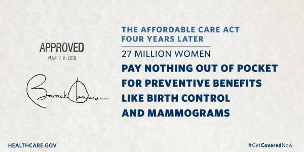 For #ACA's 4th b-day, women can celebrate that being a woman is no longer a pre-existing condition. #healthcare4all http://t.co/LawjN2Qmwz