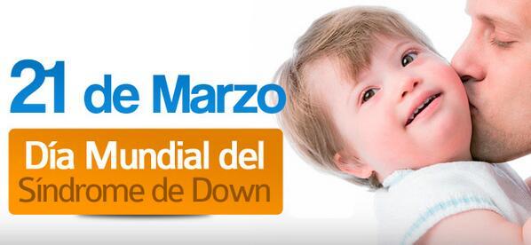 Día Mundial del Síndrome de Down, tan inteligentes como cualquier otra persona que no lo padezca, dignos de admirar. http://t.co/dNzwYLv9ZR
