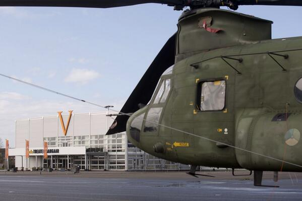 We zijn binnen! Alle heli's ikv #NSS2014 kwamen vanmorgen aan op voormalig vliegkamp Valkenburg #luchtmacht http://t.co/M71mkwsMqI
