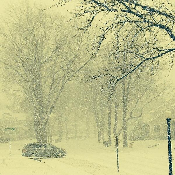 This is spring in Akron Ohio!