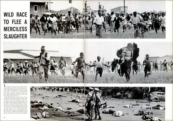 How Life magazine reported the Sharpeville Massacre of 21 March 1960. #SouthAfrica. http://t.co/HvOsnlaBuz http://t.co/odC0a2wVMB