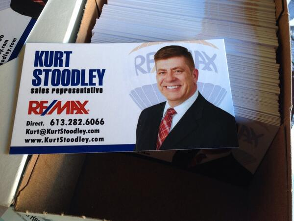 1st batch of business cards are in! I'm hanging my Real Estate hat at ReMax Affiliates in Kanata..awesome office! http://t.co/utYr3vZoXe