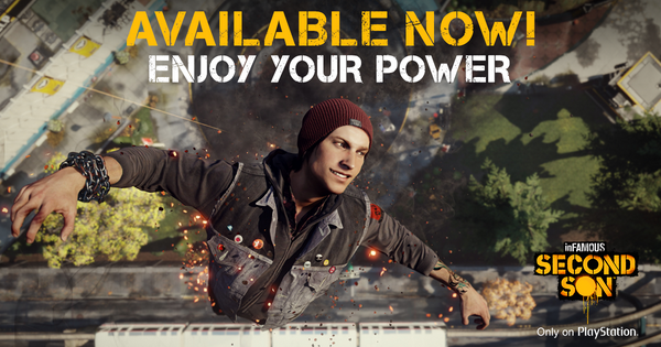 Happy launch day! Did you get any sleep last night? #EnjoyYourPower #SecondSon http://t.co/pkkmB3BKQx