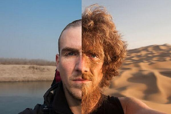Man walks 2,796 miles across China, documents his transformation in selfies | @PSFK http://t.co/8DUVP7jKGt http://t.co/MVtgA7ir2n