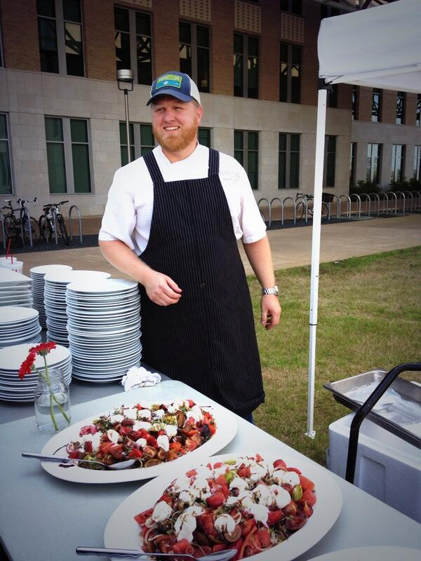 Houston chef Randy Evans @havenchef  & his fantastic heirloom tomato salad @foodwaysTX  symposium #TXfood14. http://t.co/yUdvR0Ou4d