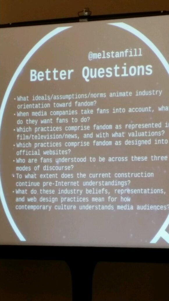 Major questions by @melstanfill #scms14 http://t.co/JaxqAIzVuh