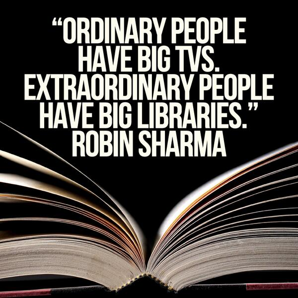 Robin Sharma On Twitter Ordinary People Have Big Tvs