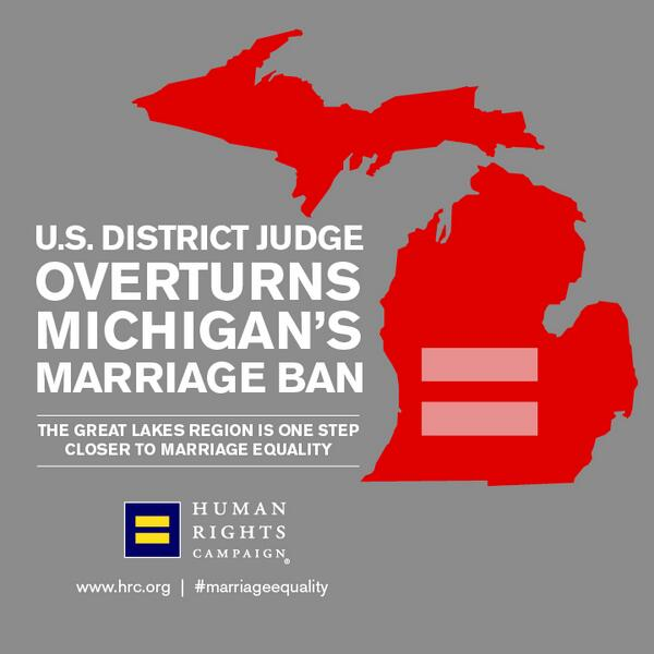RT this pic b/c momentum for #MarriageEquality continues with Michigan ruling!  Read more: http://t.co/KhLDVU9rKp http://t.co/1YChCsQ95z