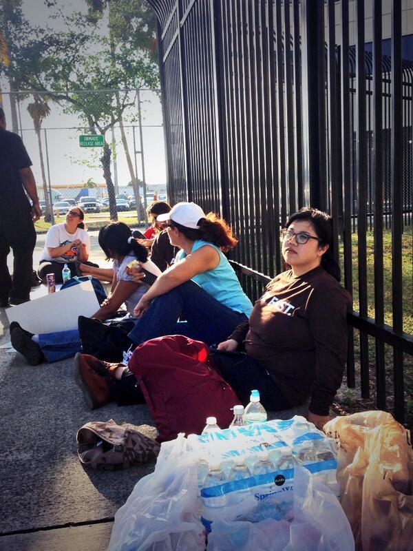 #FreeEliseo UPDATE: @SEIU_Eliseo's lawyer is here & just went inside to see him. We're sitting outside in solidarity. http://t.co/lwzgyvySr3