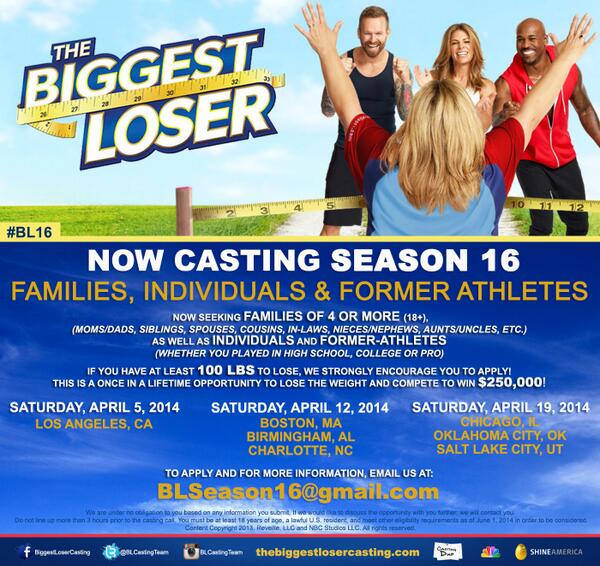 @AlexReidGetsFit @DannyCahill1 @DanniAllen14 We're NOW CASTING #BL16 - Please RT for us!  #thecastingteamlovesyouguys http://t.co/GUgn2T87UZ