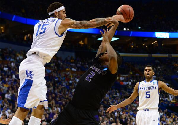 Willie Cauley-Stein's defense propels Kentucky past Kansas State: http://t.co/wX9wG0EJ7g #MarchMadness http://t.co/3F5Fr0D2xX