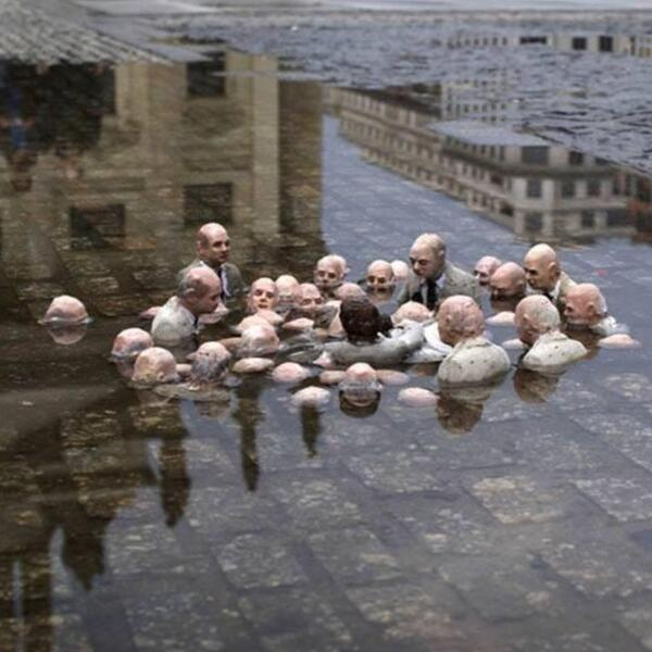 """@Alex_Verbeek: Nice one! Berlin street art: ""Politicians discussing global warming."" #climate #art http://t.co/9tmzAwt16T"""