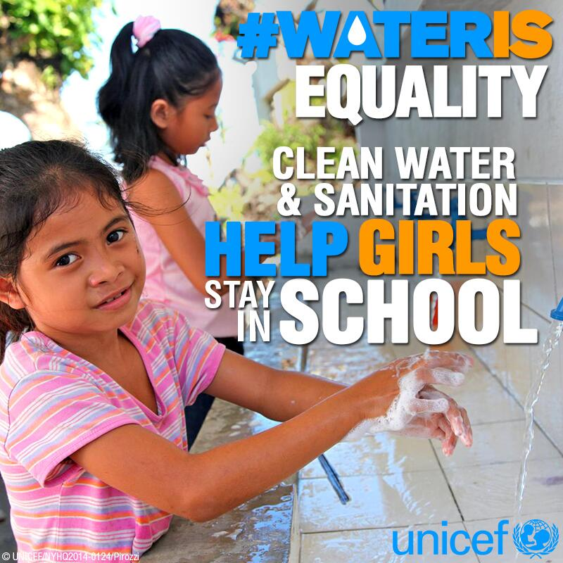 Twitter / UNICEF: #wateris equality. Clean water ...