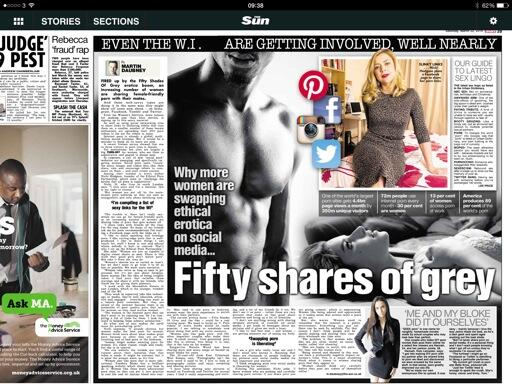 @MartinDaubney: The rise of social, ethical, shared porn for women. Today's @thesunnewspaper with @NichiHodgson