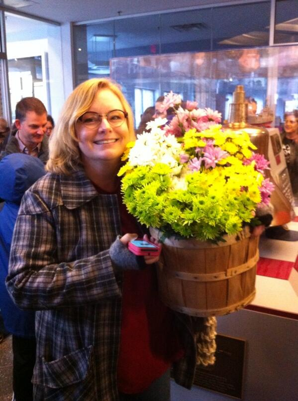 "She just came with a bucket of flowers bc ""everyone should have flowers."" #gaymarriage http://t.co/HEZNYLZZvf"