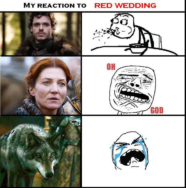 Red Wedding Reaction.Ramsay Bolton On Twitter The Red Wedding Reactions Http T
