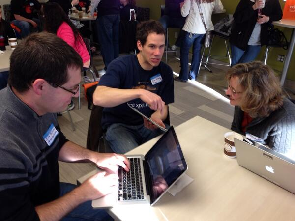 """""""@mrbadura: The conversations are the best part of #edcamp #edcampomaha http://t.co/O74be8fSF4"""" #catholicedchat"""