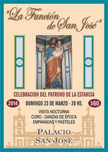 Mañana>#LaFunciónDeSanJosé -Patrono de la Estancia- en #PalacioSanJosé 20hs. @MinTurER  *Entrada $60