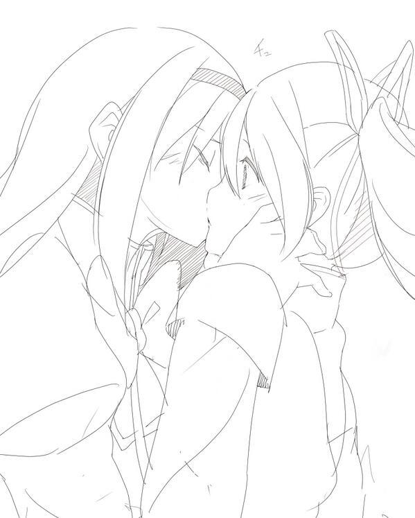 時間があればコピー本でもいいから、ひたすらキスし合う本とか描いてみたい