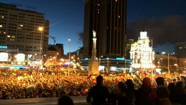 Foto desde la plaza de Colón #MarchasDignidad22m #22m http://t.co/8svKhadssA