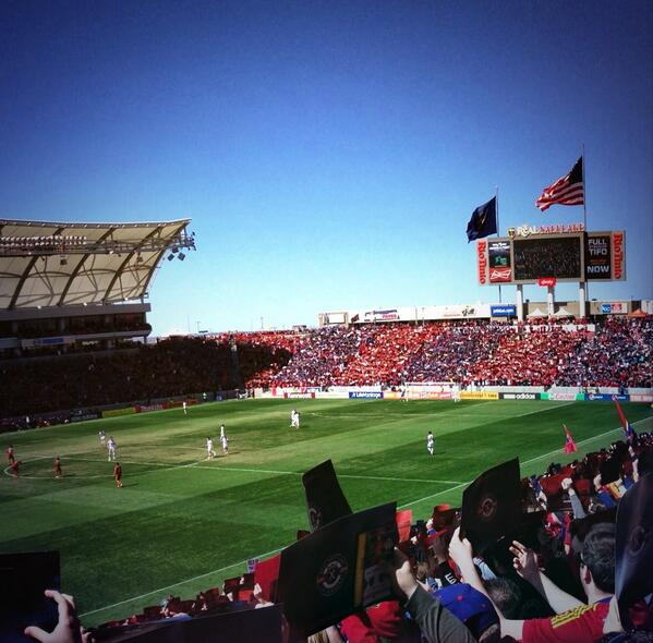 The RioT looked awesome today! Thank you @RealSaltLake for the great atmosphere. #RSLvLA #RSL http://t.co/b2y7YU0xdN