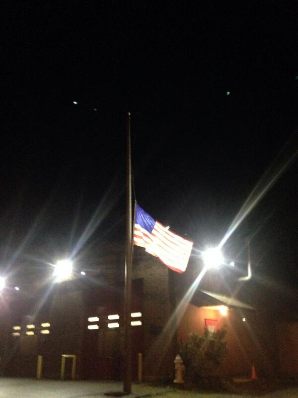 Oso fire station evacuated. Flag flying at half-staff. #530slide http://t.co/yXusTFWiAN