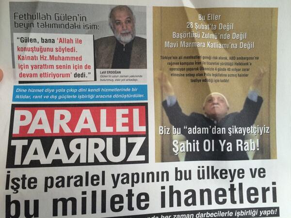 AKP trolleri gece Erenköy'de arabaların üstüne ve kapıların önüne bu gazetelerden bırakmış. @gerdanmustafa http://t.co/HlXkBNWAa4