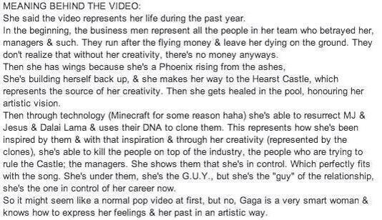 Meaning behind the video #LadyGagaIsAGUY http://t.co/9cZsLOa0a3