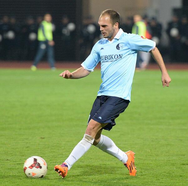 Lazevski playing for Rad; photo: fkrad.rs