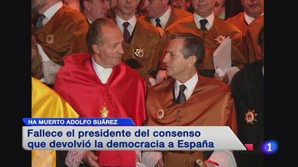 Se ha muerto el primer presidente que recuerdo. Un político honesto del que deberían tomar nota muchos. #depsuarez http://t.co/Y2CYW2MdRb