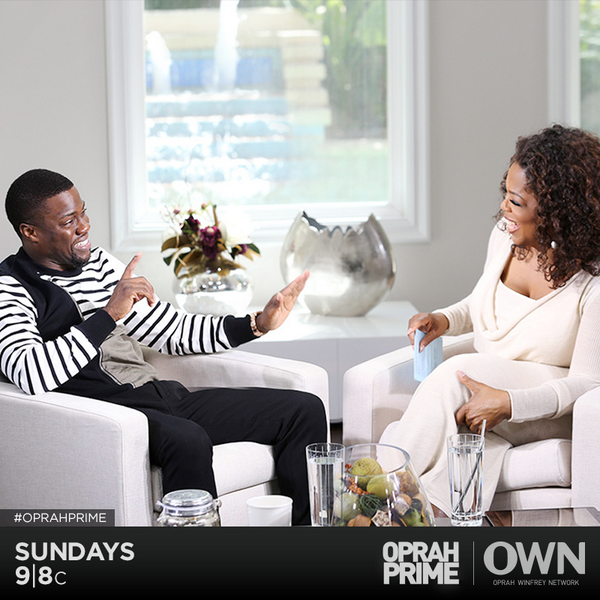 .@Oprah sits down with the hilarious @KevinHart4real tonight on #OprahPrime. Retweet if you'll be watching with us. http://t.co/Ivg4vWI0lk
