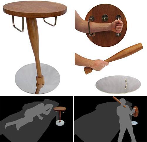いざという時、護身用になるかもしれないサイドテーブル... http://t.co/nCpuuCBd4G