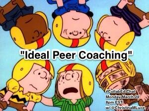 """ONE HOUR until #CollabEd Chat Tonight 8pm EST w/ @ChristinaMLuce to discuss """"Ideal Peer Coaching"""" http://t.co/RVywFLAtkH #edchat #sschat"""