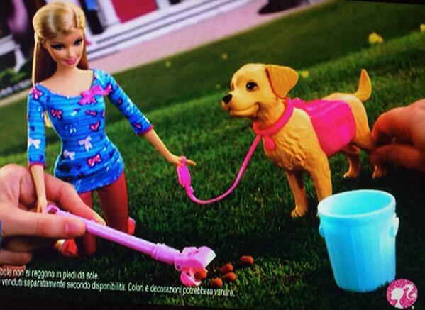 Misterx On Twitter Barbie Cuccioli Raccoglie La Cacca Del Suo