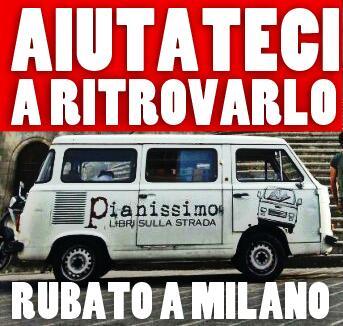 Aiutateci a ritrovarlo! #leggiu, il furgone di @pianissimolibri http://t.co/nAp0kU9fiq  Vicini a @filipponicosia3 http://t.co/TFCJUnr8RE