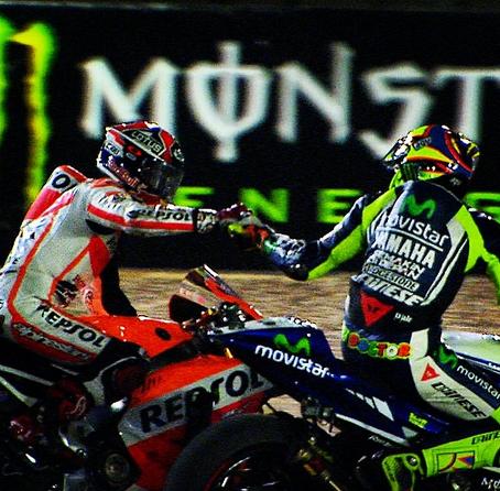 #Qatar #MotoGP was a hell of a battle between @marcmarquez93 & @valeyellow46! http://t.co/qaTz5bzL5R