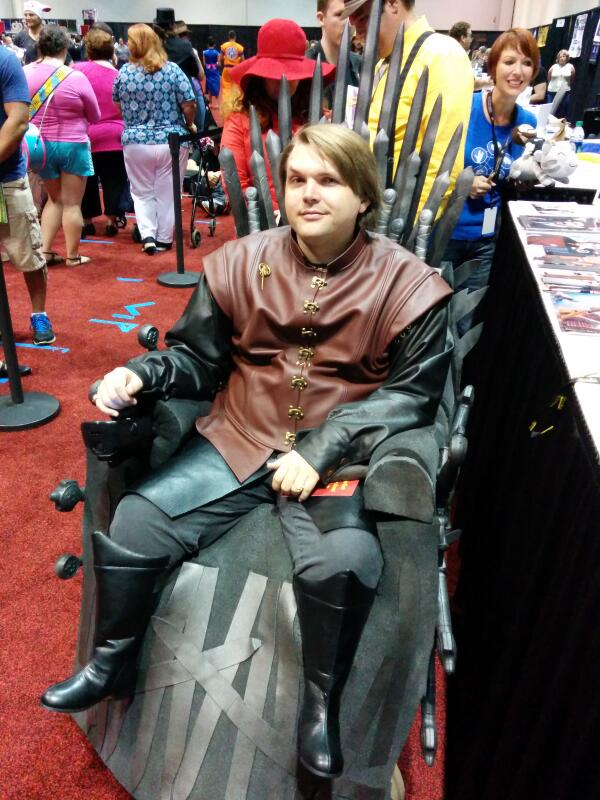 Seven hells, I need to do this to my wheelchair. RT @cha0tic: RT @wilw: He made his chair into the Iron Throne: http://t.co/SvLJbA5Hn2 #GoT