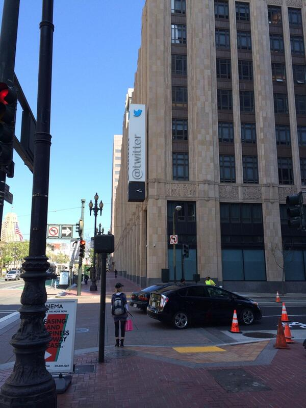 In front of Twitter HQ! :) http://t.co/vfCRWTIN6D
