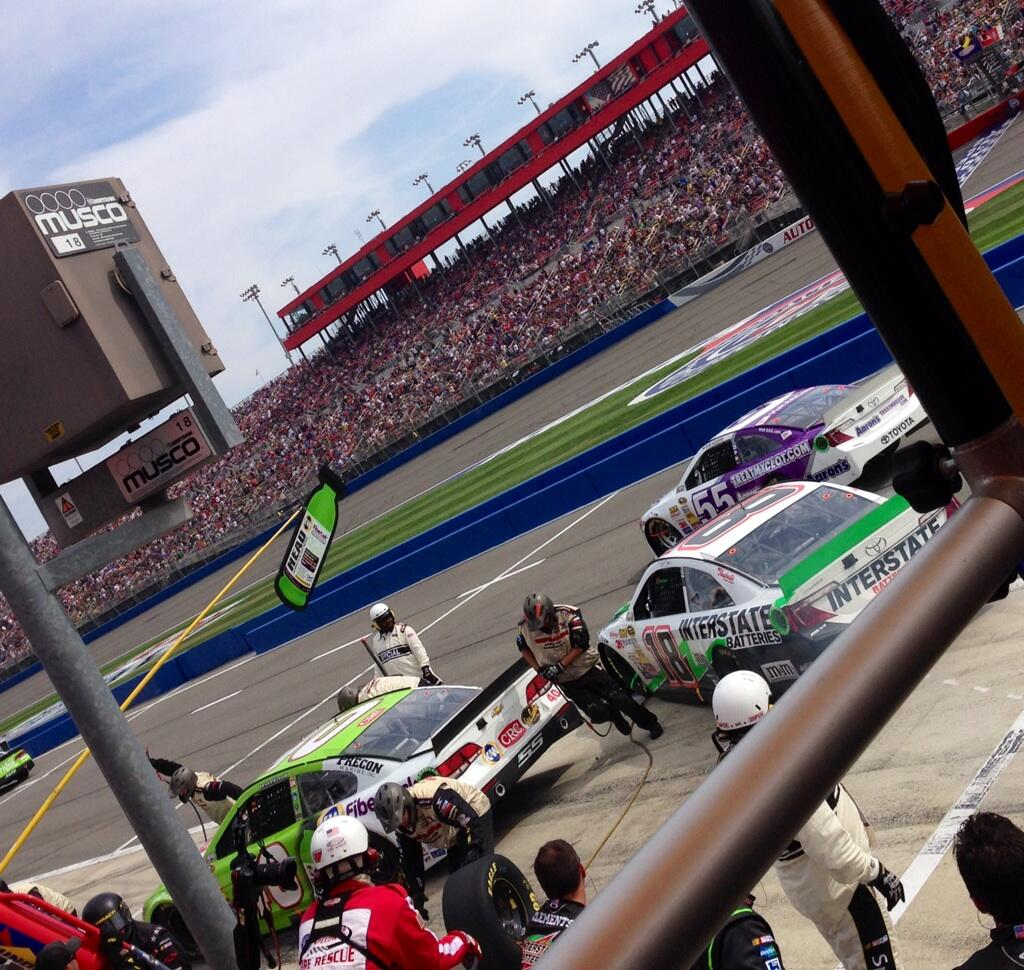 Twitter / SamanthaBusch: Four tires, fuel and adjustments ...