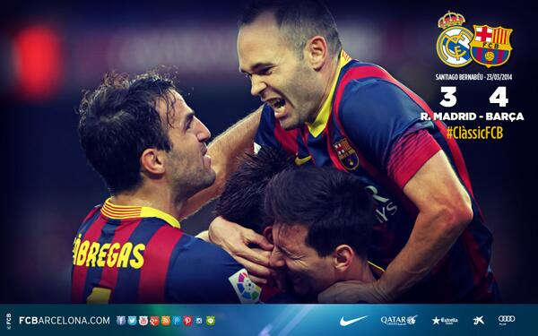 Nice One RTFCBarcelona ClassicFCB Wallpapers Of Barcas Victories At The Bernabeu Bitly 1eCy9OL Pictwitter Wn6NV8wxwW